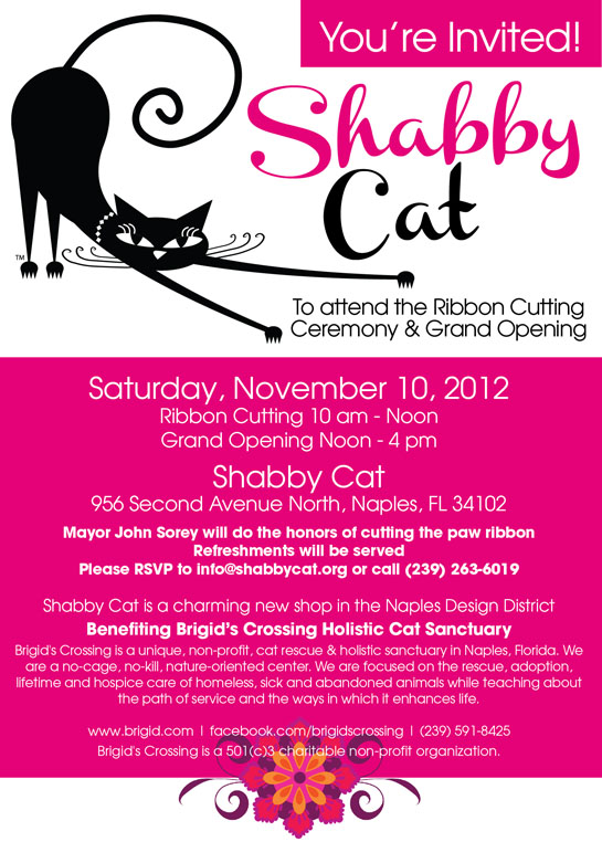 You're Invited to the Shabby Cat Ribbon Cutting and Grand Opening